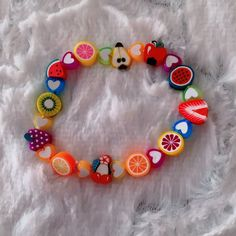 Fruit Kandi Bracelet   Etsy Kandi Bracelets, Beaded Bracelets, Bead Jewelry, Beaded Necklace, Women Jewelry, Beads, Fruit, Etsy, Beaded Jewelry