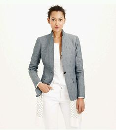 NEW J.Crew $168 Women's Regent Blazer, Chambray, Size 00, b9318 Outerwear in Clothing, Shoes & Accessories, Women's Clothing, Suits & Blazers | eBay