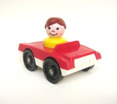 Rare Vintage Fisher Price Red Car
