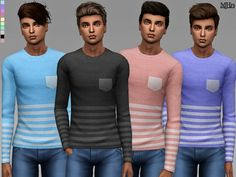 Like Stripes Tops by Margeh-75 at TSR • Sims 4 Updates
