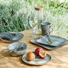 Assiette creuse en grès gris effet texturé D21cm - LARGO - assiettes creuses - alinea Texture, Table Decorations, Totalement, Authentique, Home Decor, Artisanal, Arts, Composition, Products
