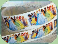 5 yards Disney Princess Ribbon 7/8 Make Bows by BowneensBowSupply, $5.50 #princessparty