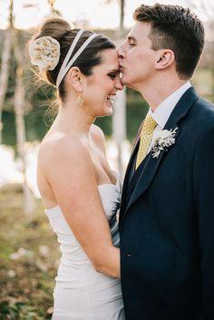 Photography: Ken Kienow  - www.kenkienow.com  Read More: http://www.stylemepretty.com/california-weddings/2014/05/27/romantic-yellow-navy-blue-wedding-at-spanish-oaks-ranch/