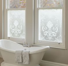 Find sophisticated detail in every Laura Ashley collection - home furnishings, children's room decor, and women, girls & men's fashion. Living Room Windows, House Windows, Frosted Glass Window, Stained Glass Window Film, Window Films, Privacy Window Film, Bathroom Windows, Bathroom Window Privacy, Privacy Glass