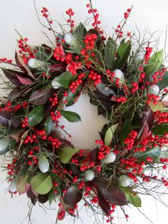 Boutique Blooms Floral Design - Christmas door wreath, decoration.