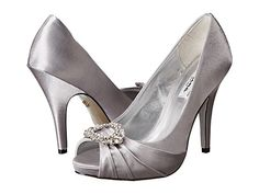 elvira grey heelssilver