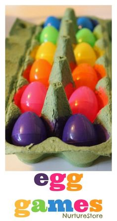 Fun ideas for Easter egg games for kids, Easter math activities, Easter literacy activities