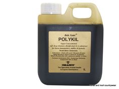 Gold Label Polykil Super concentrated safe deep cleanser disinfectant and re-odorant for horse transporters and stables that neutralises ammonia.