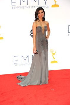 Morena Baccarin carrying a Kotur clutch.  This Brazillian-American actress has been in three amazing shows: Firefly, V and Homeland. Does no wrong. Also: bring back Firefly.