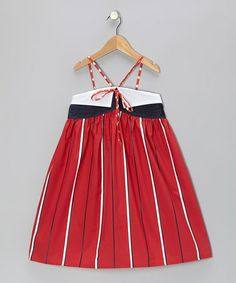 Take a look at this Red & Navy Stripe Maxi Dress - Toddler & Girls by Funkyberry on #zulily today!