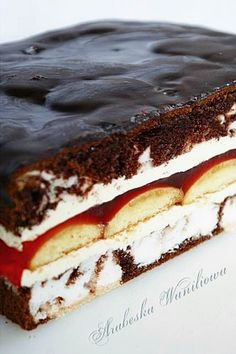 "Arabeska: Oczy carycy ""Eyes of the Tsarina"" Cake Recipes, Dessert Recipes, Torte Cake, Sweet Bar, Number Cakes, Polish Recipes, Homemade Cakes, No Bake Desserts, Baked Goods"