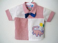Vintage Apparel Baby Boys 80's Shirt Novelty Red by Freshandswanky, $8.00