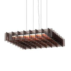Features:Inspired by Japanese joinery tradition, Grid LED geometric pendant conveys a lightness and weightlessness of form in its orderly structured frame of natural wood or optically clear acrylic. The CNC cut slats provide both optimal diffusions from side viewing angles while celebrating a rich palette of natural woods and rich colorways to direct warm ambient light downward with a minimal light spill.  Grid LED geometric pendants can be suspended individually or in series to create uniquely Sloped Ceiling, Ceiling Lamp, Ceiling Lights, Ceiling Grid, Japanese Joinery, Steel Canopy, Cnc, Cutting Tables, Pendant Lamp