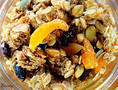 The Best Granola EVER!  My husband eats this for breakfast, and he'll walk  around with a jar eating it as a snack.  I'm sure you'll find your own way of enjoying it...using it as a topping for yogurt or ice cream sounds good to me!   Everyone that tasted this granola, absolutely loved it, seriously LOVED IT!