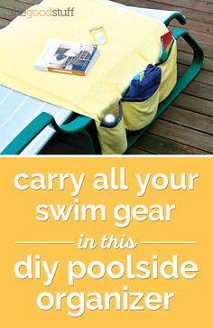 Sun's out! Hit the pool with this DIY organizer to carry all the essentials and pool toys.