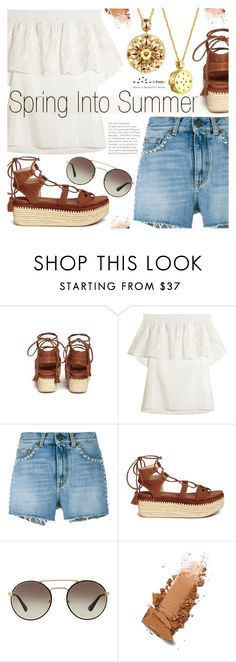 """""""Spring into Summer"""" by totwoo ❤ liked on Polyvore featuring TIBI, Yves Saint Laurent, Stuart Weitzman and Prada"""
