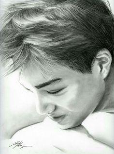 Good Morning, Babe by FallThruStardust on deviantART Bff Drawings, Easy Drawings, K Pop, Kai Exo, Baekhyun, Exo Cartoon, Kai Arts, Exo Fan Art, Kpop Fanart