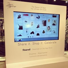 Topshop. Interactive gift guide.