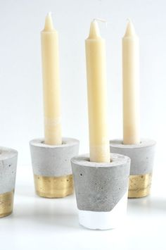 Concrete DIY Candle Holders