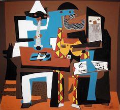 Pablo Picasso - Los Tres Músicos - 1921