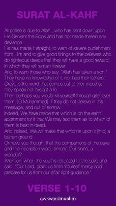 Surah Al-Kahf, ayat 1-10 awkwardmuslim.tumblr.com