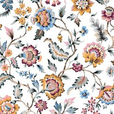 Textile Patterns, Textile Prints, Textiles, Indian Patterns, Floral Texture, Motif Floral, Floral Fabric, Free Watercolor Flowers, Mughal Paintings
