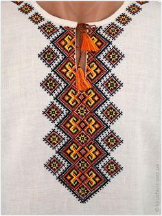 Літня чоловіча вишиванка з яскравим орнаментом богатирським - Товари - Замовити чоловічі, жіночі та дитячі вишиванки в Україні - Укрбізнес