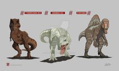 Jurassic Park/Jurassic World: Three Big Beauties by JurassicWorldFan