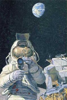 astronaut in space painting - photo #21