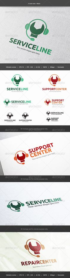 Service Line  - Logo Design Template Vector #logotype Download it here: http://graphicriver.net/item/service-line-logo/5916393?s_rank=1157?ref=nexion