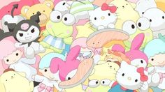 Find images and videos about cute, anime and sanrio on We Heart It - the app to get lost in what you love. Sanrio Hello Kitty, Hello Kitty My Melody, Sanrio Wallpaper, Sanrio Characters, Cute Characters, Pink Aesthetic, Aesthetic Anime, Sanrio Danshi, Doja Cat