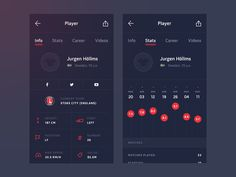 Another WIP of the first version mobile app design for Kick Score — brand new…