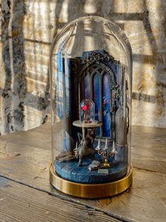 Cloche Decor, The Bell Jar, Bell Jars, Glass Domes, Glass Lanterns, Enchanted Rose, Disney Crafts, Book Nooks, Cold Porcelain