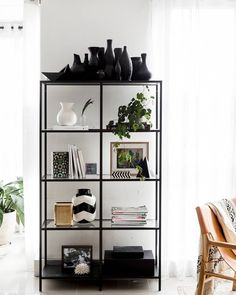 """227 Likes, 4 Comments - C U L T I V E R (@cultiver_goods) on Instagram: """"Monday Morning shelf styling at CULTIVER HQ #cultiverlinen #shelfstyling"""""""