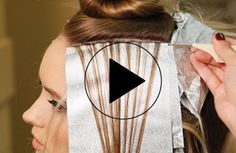 Trendy Hair Highlights : Video HOW-TO: Hi-Lift for blonding hair painting base-breaking and highlightin Balayage Hair, Ombre Hair, Foil Highlights, Highlights At Home, Hair Foils, Hight Light, Creative Hair Color, Balayage Technique, Hair Color Formulas
