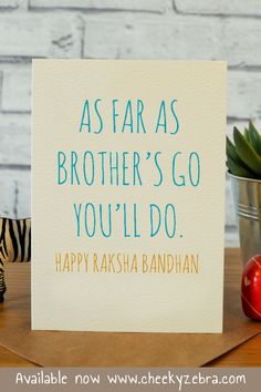 Funny rakhi and raksha bandhan cards to make your brohter laugh this year! We also have a limited number of rakhis which you can add to your order. #rakhicard #rakshabandhan Raksha Bandhan Cards, Rakhi Greetings, Rakhi Cards, Happy Rakhi, Happy Rakshabandhan, Your Brother, Kraft Envelopes, Blank Cards, Card Making