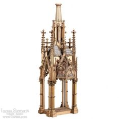 Antique Decor and Accessories | Religious Antiques | Antique French Gothic Carved Wood Shrine | www.inessa.com