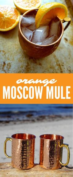 Moscow Mule made with Oramge