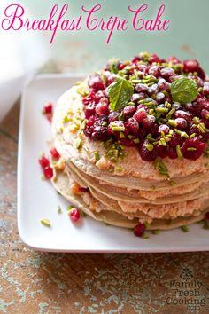 winter breakfast crepe cake | vegan + gluten-free
