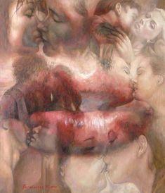 Художница Марина Подгаевская: картина Поцелуй - холст,масло
