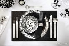 Discover unique decorative ideas for your home. HomeSense has a fine selection of Bed and Bath & Home Décor products at great prices. Find a HomeSense store near you. Place Settings, Table Settings, Home Design Decor, Home Decor, Homesense, Black And White Design, Holiday Tables, Cozy House, Tablescapes