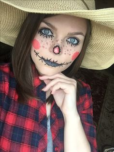 Preparing for Halloween. Did a scarecrow look today! I might try something else next week with my SeneGence makeup line. Stay tuned!