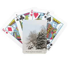 Winter Wonderland Playing Cards.  Photo by Sarah Elisabeth