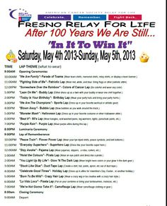 relay for life themed laps