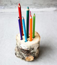 DIY pot à crayon naturel