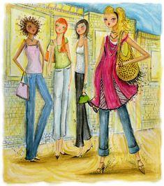 Varieté de Láminas para Decoupage: Más láminas femeninas!