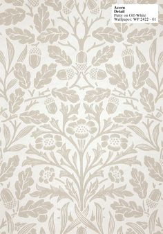 Acorn Wallpaper by William Morris - Historic Style