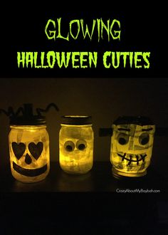 Glowing Halloween Cuties - Halloween Craft for Kids