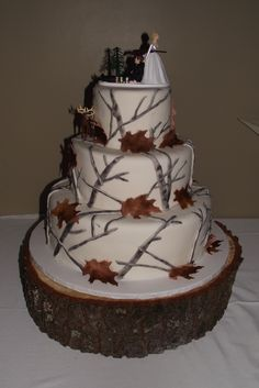 Winter Camo Wedding cake - I created this for my brother's wedding. Hunting theme.