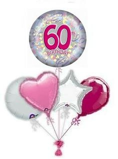 """Send a balloon to mark their special birthday with a fabulous """"In The Pink"""" happy birthday balloon 60th Birthday Balloons, 40th Birthday, Balloon Delivery, A Day To Remember, Pink, Silver, Money, 40 Birthday, Fortieth Birthday"""